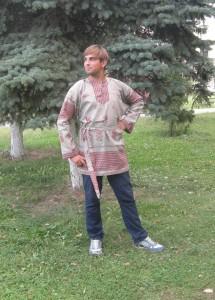 рубаха петухи